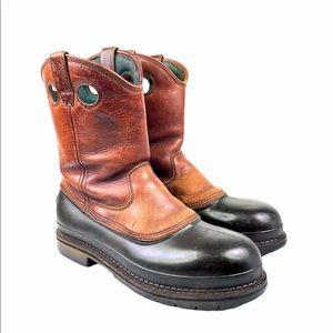 """Georgia 12"""" Muddog Steel Toe Wellington Work Boots"""